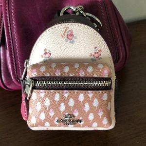 NWT! Coach Mini Backpack Bag Charm
